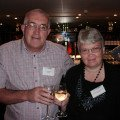 Ian and Christine Horsewood from Co-Op PTA opt for a glass of wine to kick-start the evening.