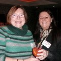 Ann Barber (left) from Travel Counsellors and Sharon Earls from Cosmos sample rum punch at the reception.