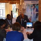 Agents enjoying their time with Visit Barbados