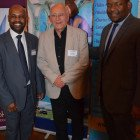 Winner of the Barbados FAM Trip place was Victor Kaye from Gadabouts Travel (centre), with the tourist boards Cedric Lynch and Kyle Gittens