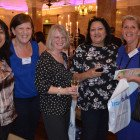 Karen Dos Remedios and Jackie Prats (both Co-Operative Personal Travel Advisors), with Diane Burnage, Jackie Shell and Pauline Lovegrove from Classic Travel