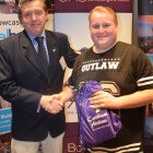 Caribbean goody bag winner was the lucky Josh Kerrigan from Thomas Cook Leeds (right), courtesy of Malcolm Aldcroft from Caribbean Airlines