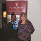 Gracita Alert of St. Vincent & Grenadines Tourist Board (left) and Sharon Keaveney of Inspired Travel Nuneaton