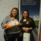 Tracey Quirk from Birmingham Airport with Abigail Kay from Personal Travel Agents