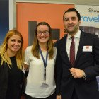 Linzi Haywood from Thomas Cook between Lydia Schneider and Raouf Belmouloud from Sixt Rent a Car