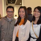 Leo Lung, Leona Lung and Queenie Li from United Travel