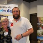Claire Hancer from Efteling Park with Adrian Marpole from Excite Holidays