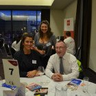 Tracey Quirk from Birmingham Airport with Gemma Jones and Mike Gavin from FCM Travel Solutions