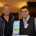 Drinks reception agents Left: Michael Dance and Darren Seward, Thomas Cook Marble Arch