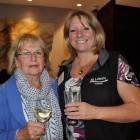Drinks reception Karen Beek, Traveltime (left) with Julie Franklin, All Leisure Holidays