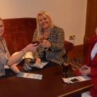 Enjoying a drink - Cassy Cullen ( CC Travel ), Debra Dickson ( Thomas Cook Leeds ) and Joely Richardson from Virgin Holidays.