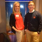 Ontorio's Lyndsey Thomas with Air Canada's Kevin Rogers