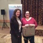 Dawn Parr Representative UK & Ireland Botswana Tourism and winner of Botswana briefcase Julia Cullen, Hays Travel.