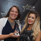 Rosie Chapman (left) and Ellis Sontag from Affordable Car Hire are delighted to win Star Car Rental Company.