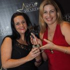 South Africa won Star Destination for Cultural & Heritage Holidays with South African Tourism's Nina Farrimond (left) and Tolene Van der Merwe receiving the award.