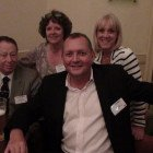 Back left to right: Eileen Allan and Sue Petch; front left to right: Wally Mee and Karl Taylor from Cresta World Travel