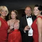 Midlands Travel Trade Ball at the Belfrey, Wendy Albutt (Elite Travel Group), Stefanie Bowes (Birmingham Airport), Philip Mannion and Tracey Quirk (Birmingham Airport)
