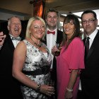 Midlands Travel Trade Ball at the Belfrey, Tony Watson (TW Consulting), Julia Broome (Travel Bag), Toby Clinton (Flight Centre), Claire Harrison (Trail Finders) and Phil Courtney