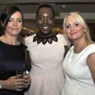 Midlands Travel Trade Ball at the Belfrey, Caroline Hughes (Emirates), Samantha Bailey (AMEX) and Vicky Barton (AMEX)