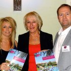 Barbara Holmes of Moorend Travel won one week's stay in Villaparade villa in Mallorca. Picture here are: (left to right) Natalie Crossland, Villa Parade; Barbara Holmes, Moorend Travel; Andrew Warden, Villa Parade.